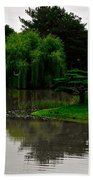 Japanese Garden Point Bath Towel