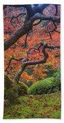 Japanese Maple Tree Bath Towel