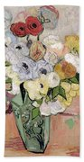 Japanese Vase With Roses And Anemones Painting by Vincent