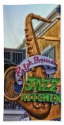 Jazz Kitchen Signage Downtown Disneyland Bath Towel