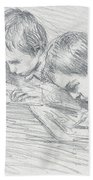 Jean Pierre Hoschede And Michel Monet Bath Towel