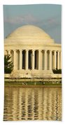 Jefferson Memorial At Sunset Bath Towel