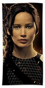 Jennifer Lawrence As Katniss Everdeen Bath Towel