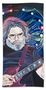 Jerry Garcia And Lights Hand Towel