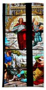 Jesus Angels Stained Glass Painting Inside Cologne Cathedral Germany Bath Towel
