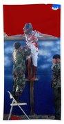 Jesus Christ Float 60th Anniversary Of The Landing On Iwo Jima In Ww2 Sacaton Arizona 2005 Bath Towel