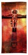 Jesus Christ On The Cross Bath Towel