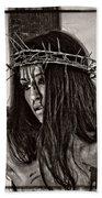 Jesus Christ Portrait Bath Towel
