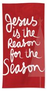 Jesus Is The Reason For The Season- Greeting Card Hand Towel