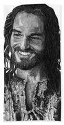 Jesus Smiling Bath Towel