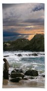 Jesus' Sunset Bath Towel