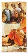Jesus Washing Apostle's Feet Bath Towel