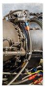 Jet Turbine Engine  Bath Towel