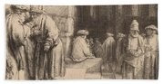 Jews In The Synagogue Bath Towel