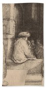 Jews In The Synagogue Hand Towel