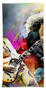 Jimmy Page And Robert Plant Led Zeppelin Hand Towel