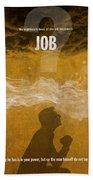Job Books Of The Bible Series Old Testament Minimal Poster Art Number 18 Bath Towel