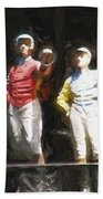 Jockeys In A Row Bath Towel