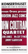 John Coltrane Quartet In Sweden Bath Towel