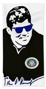 John F Kennedy Signature Wayfarer Bath Towel