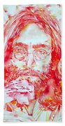 John Lennon With Rose Bath Towel