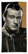 John Wayne Publicity Photo In Costume Stagecoach 1939-2013 Bath Towel