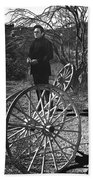 Johnny Cash  Meditating Wagon Wheel Graveyard Old Tucson Arizona 1971 Bath Towel