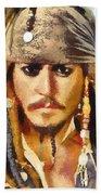 Johnny Depp Jack Sparrow Actor Bath Towel
