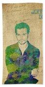 Johnny Depp Watercolor Bath Towel