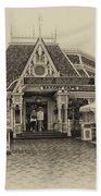 Jolly Holiday Cafe Main Street Disneyland Heirloom Bath Towel