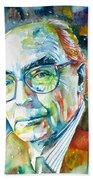 Jose Saramago Portrait Bath Towel