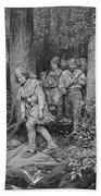 Joseph Brown Leading His Company To Nicojack, The Stronghold Of The Chickamaugas, Engraved Bath Towel