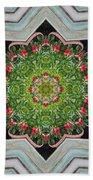 Jubilant Mandevilla Kaleidoscope Pattern Bath Towel