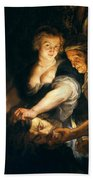 Judith With The Head Of Holofernes Bath Towel