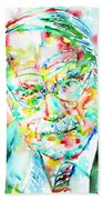 Jung - Watercolor Portrait.2 Bath Towel