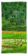 Jungle Homestead - Paint  Bath Towel