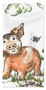 Junior Pig Bath Towel