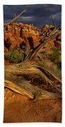 Juniper Below The Fiery Furnace Arches National Park Bath Towel