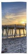 Juno Beach Pier At Dawn Bath Towel