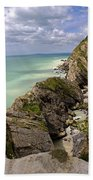 Jurassic Coast From Lulworth Cove Bath Towel