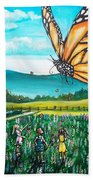 Just Another Monarch Monday Hand Towel