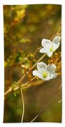 Just Two Little White Flowers Bath Towel