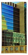 Juxtaposition Of Pittsburgh Buildings Bath Towel