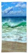 Kaanapali Shorebreak Maui Bath Towel