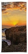 Kaena Point Sunset Bath Towel