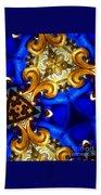 Kaleidoscopic Blues Fdl  Bath Towel