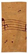 Kamasutra Abstract Music 2 Coffee Painting Bath Towel
