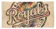 Kansas City Royals Logo Vintage Bath Towel