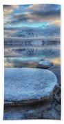 Kathleen Lake And Mount Worthington Bath Towel