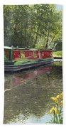 Kathleen May Chesterfield Canal Nottinghamshire Bath Towel